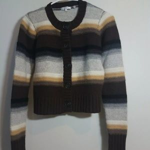 VINCE Cashmere Fitted Cardigan